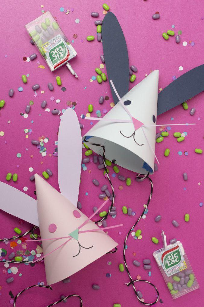 """<p>Few Easter crafts can surpass these hats on the cuteness scale. Your mini partygoers will love making <em>and</em> wearing them. </p><p><strong>Get the tutorial at <a href=""""http://thehousethatlarsbuilt.com/2015/03/diy-bunny-party-hats.html/"""" rel=""""nofollow noopener"""" target=""""_blank"""" data-ylk=""""slk:The House That Lars Built"""" class=""""link rapid-noclick-resp"""">The House That Lars Built</a>. </strong></p><p><strong><a class=""""link rapid-noclick-resp"""" href=""""https://www.amazon.com/Just-Artifacts-Bakers-Twine-Striped/dp/B01C4WTMRI?tag=syn-yahoo-20&ascsubtag=%5Bartid%7C10050.g.1111%5Bsrc%7Cyahoo-us"""" rel=""""nofollow noopener"""" target=""""_blank"""" data-ylk=""""slk:SHOP TWINE"""">SHOP TWINE</a><br></strong></p>"""