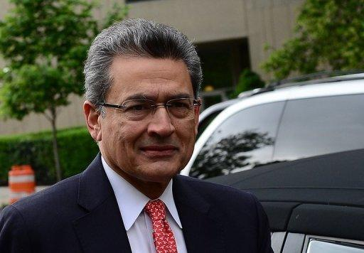 Rajat Gupta is pictured arriving for court on June 13