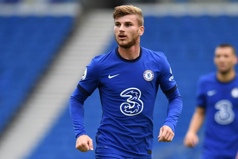 Timo Werner makes his Chelsea debut against Brighton (AFP via Getty Images)