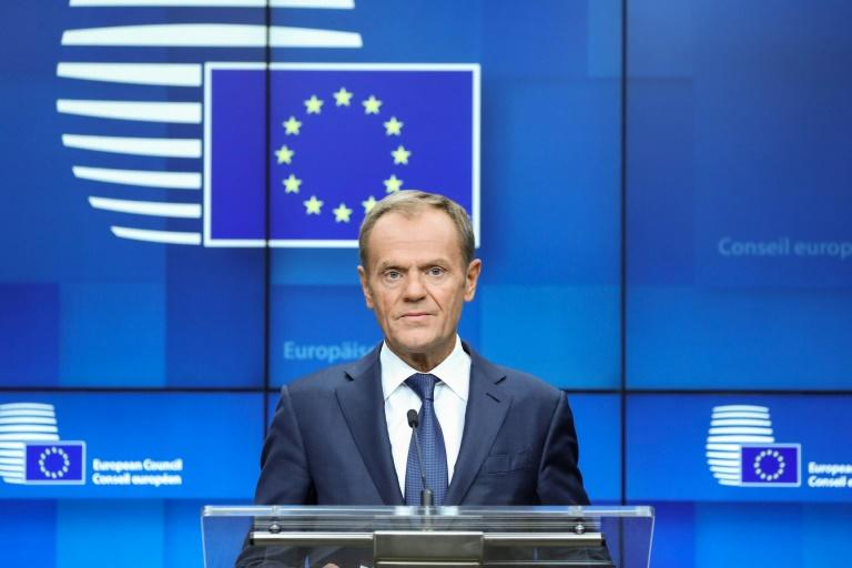 European Council President Donald Tusk said he would begin consulting EU leaders 'on how to react' - a process one diplomat said could take a few days (AFP Photo/Aris OIKONOMOU)