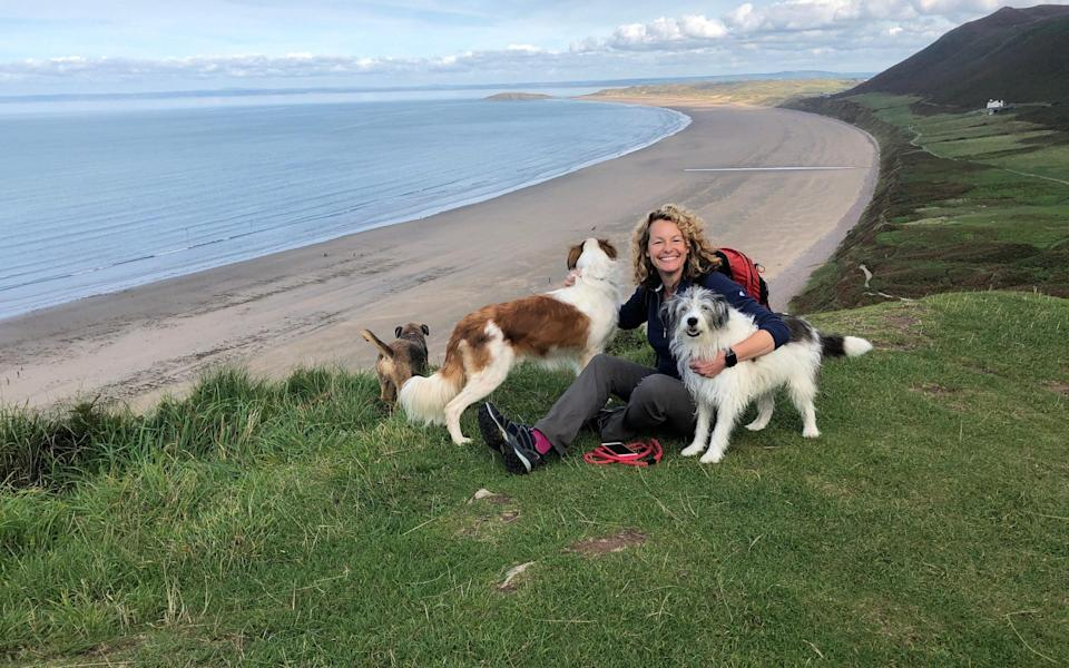 Kate Humble with her dogs - Channel 5