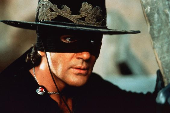 Banderas in the swashbuckling 'The Mask Of Zorro' in 1998 (Rex)