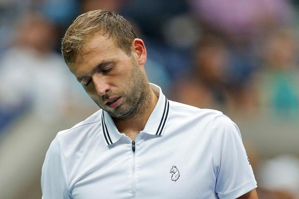 Dan Evans had made it through to the US Open last 16 for the first time  (Getty Images)