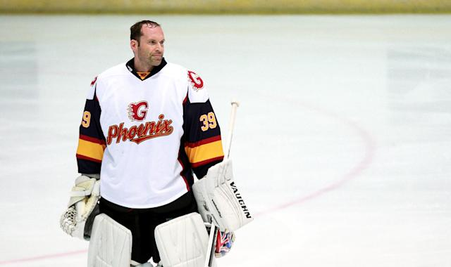 Former Chelsea and Arsenal goalkeeper Petr Cech is now a Guildford Phoenix goaltender (Photo by Ian Walton/PA Images via Getty Images)