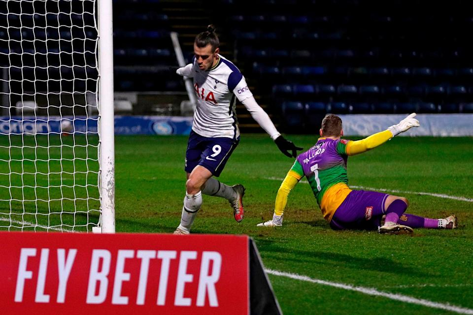 <p>Bale came alive in the box and also looked dangerous in a deep role</p> (AFP via Getty Images)
