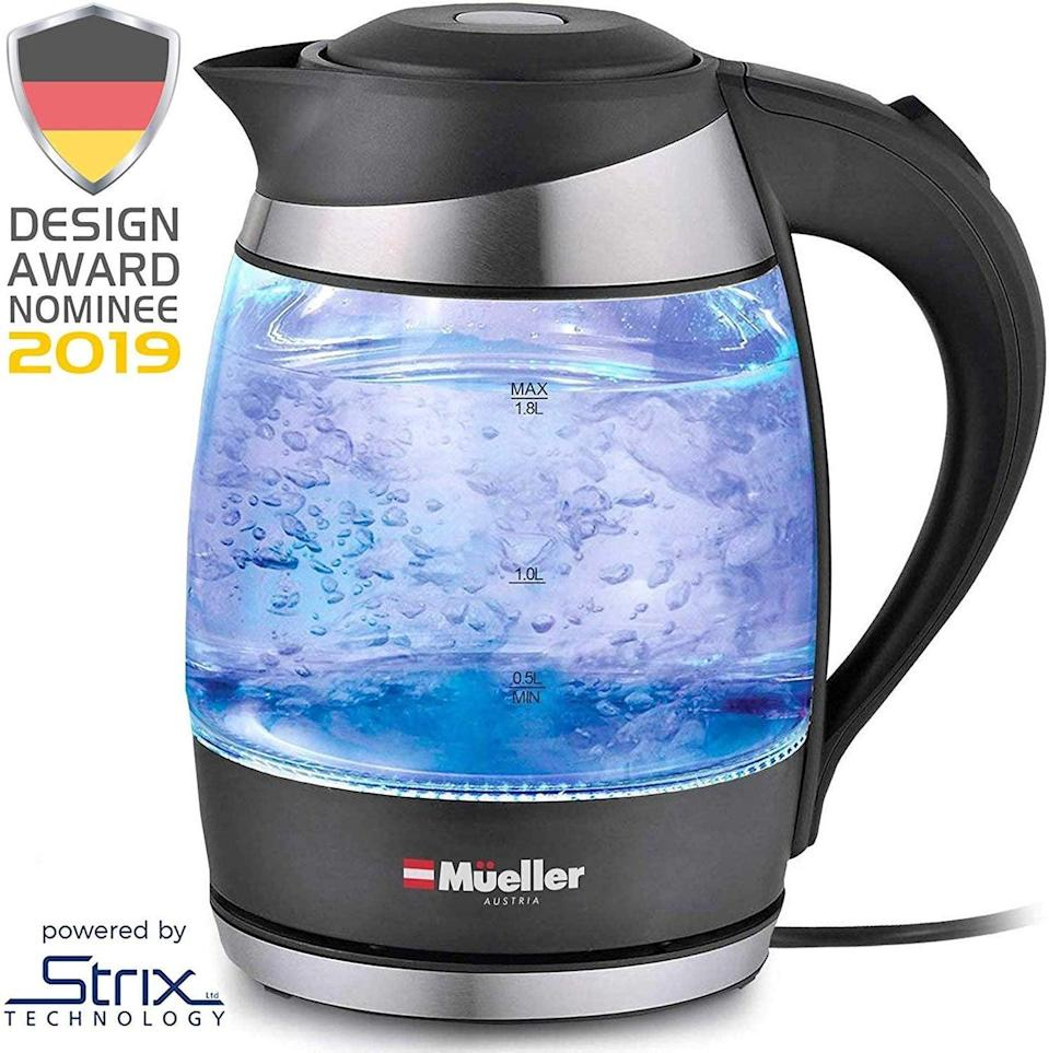 <p>Heat up water faster than ever with this <span>Mueller Premium Electric Kettle</span> ($26).</p>