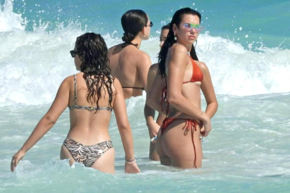<p>Dua Lipa hit the beach in a bikini during a vacation with friends in Tulum, Mexico.</p>