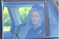 <p>Penny Brabourne, Countess Mountbatten of Burma, said to be one of Prince Philip's close confidantes, arrives to Windsor for the funeral. </p>