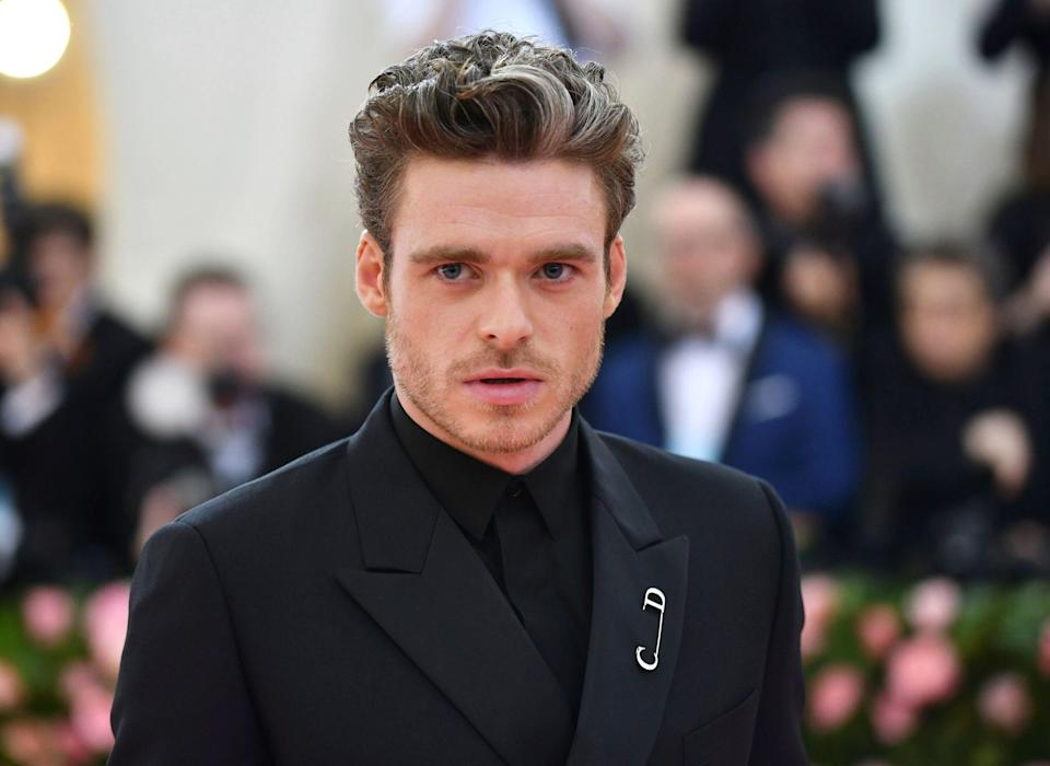 """Richard Madden attends The Metropolitan Museum of Art's Costume Institute benefit gala celebrating the opening of the """"Camp: Notes on Fashion"""" exhibition on Monday, May 6, 2019, in New York. (Photo by Charles Sykes/Invision/AP)"""