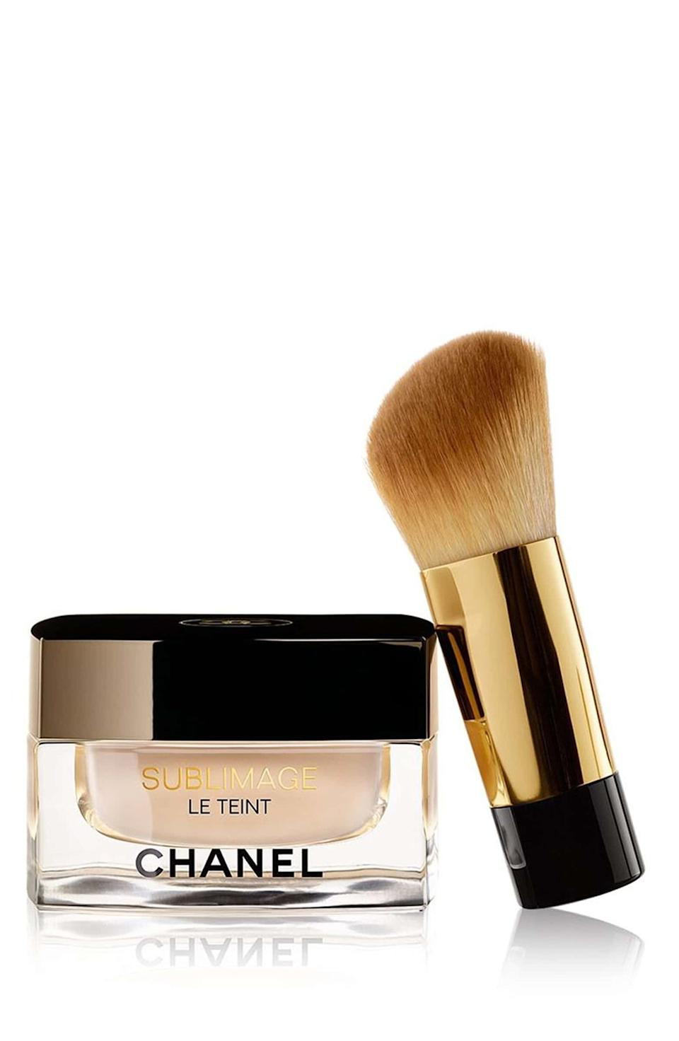 """According to <a href=""""https://people.com/royals/shop-meghan-markle-favorite-beauty-products-skincare-haircare-makeup/#chanel-sublimage-le-teint-foundation"""" target=""""_blank"""" rel=""""noopener noreferrer"""">People</a>, Markle loves the Chanel Sublimage Le Teint foundation, which is definitely a splurge.<br /><br /><strong><a href=""""https://shop.nordstrom.com/s/chanel-sublimage-le-teint-foundation/4583860"""" target=""""_blank"""" rel=""""noopener noreferrer"""">Chanel Sublimage Le Teint foundation</a>, $135</strong>"""