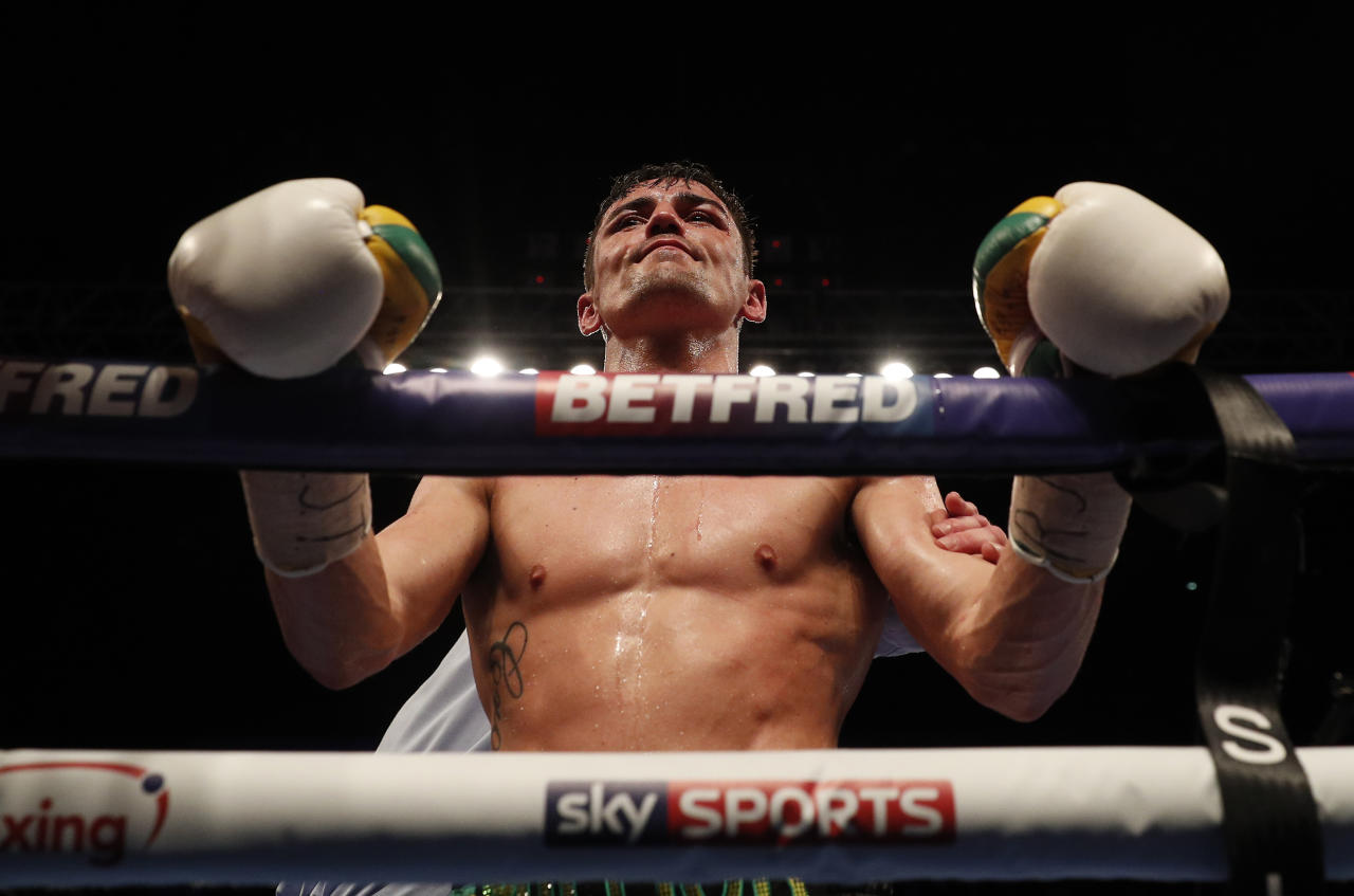 Britain Boxing - Jorge Linares v Anthony Crolla WBA World Lightweight Title - Manchester Arena - 25/3/17 Anthony Crolla looks dejected after the fight Action Images via Reuters / Lee Smith Livepic EDITORIAL USE ONLY.