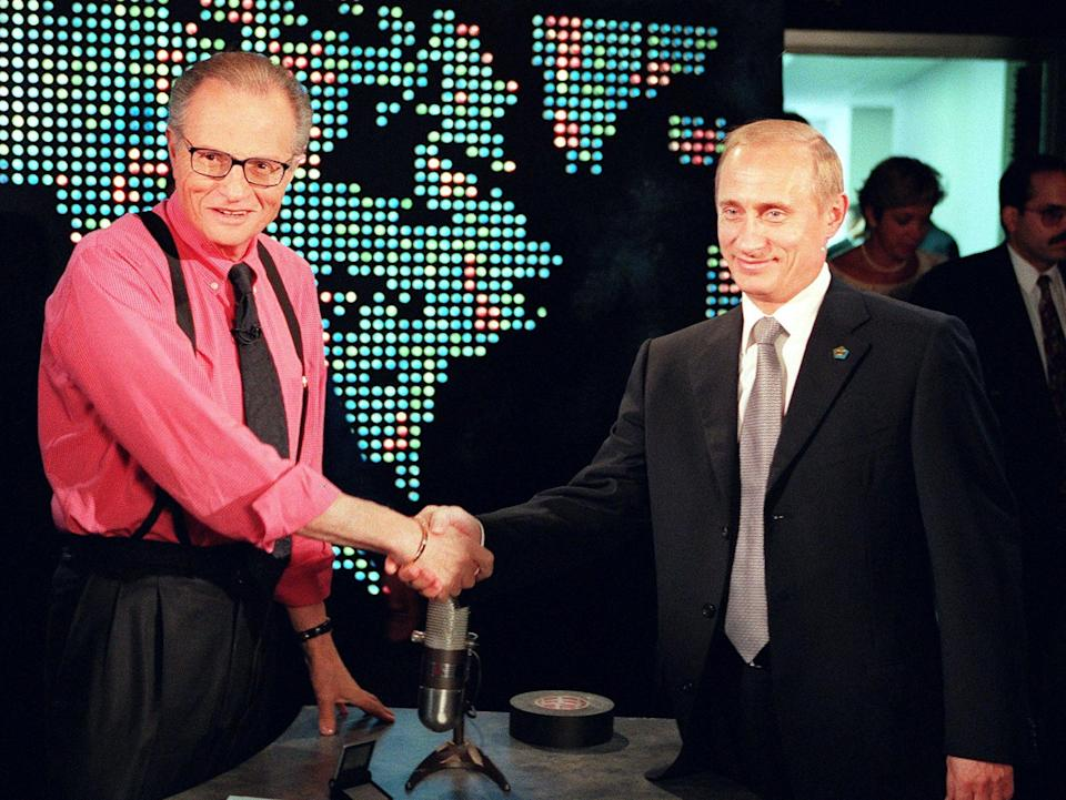 King interviewing Russian president Vladimir Putin in 2000AFP/Getty