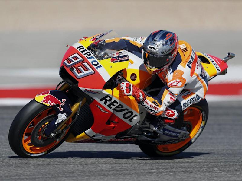 Marc Marquez won his first grand prix of the season at the Circuit of the Americas: EPA