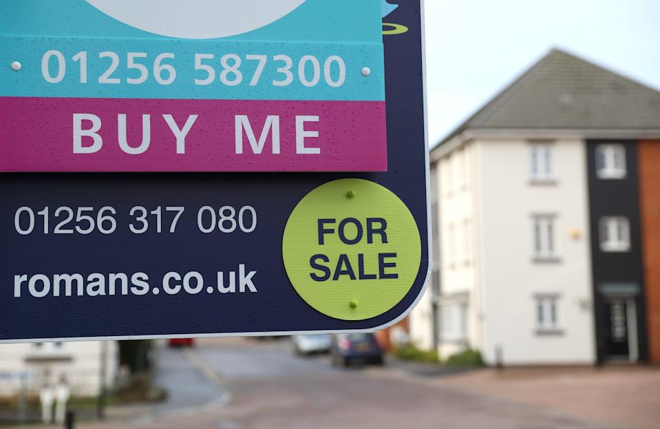 An estate agent's sign (PA Wire)
