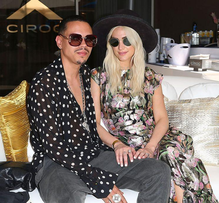 Evan Ross and Ashley Simpson celebrate A Toast to Summer with the NEW Limited Edition CIROC Summer Colada at the Hard Rock Hotel in Palm Springs