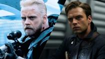 <p>Mark Hamill's Luke Skywalker, Sebastian Stan is Bucky Barnes. If they don't play relatives in a movie soon we'll never watch a Disney film again. </p>
