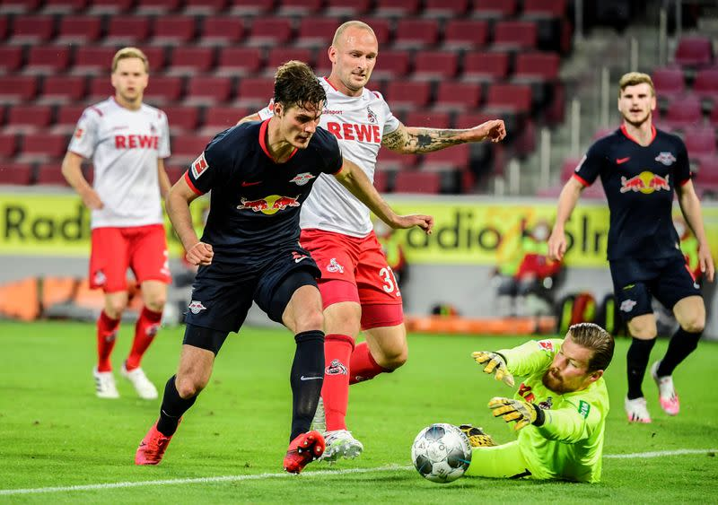 Leipzig move into third spot with 4-2 win at Cologne