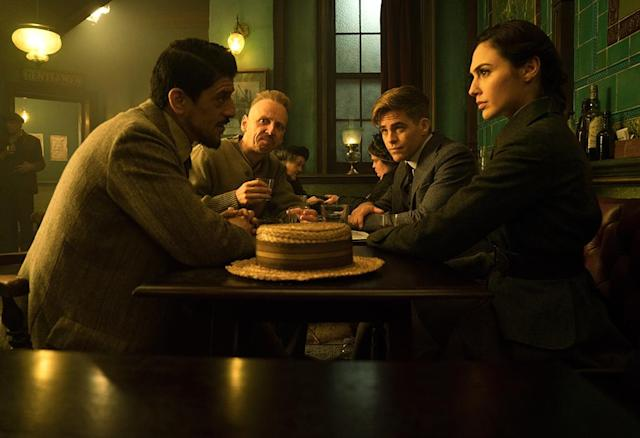 <p>Master of disguise Sameer (Saïd Taghmaoui) and sharpshooter Charlie (Ewen Bremner) get recruited by Steve and Diana. (Photo: Warner Bros.) </p>