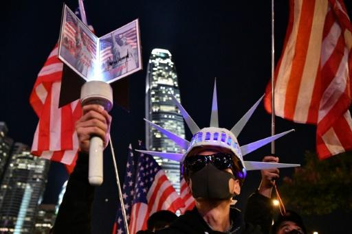 Hong Kong pro-democracy demonstrators had an outburst of pro-US sentiment when President Donald Trump signed the Hong Kong Human Rights and Democracy Act