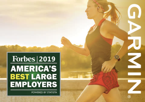 Garmin® named one of America's Top 5 Best Employers in Forbes 2019 rankings