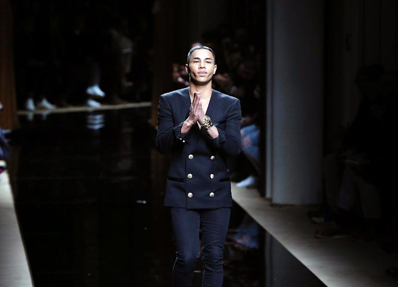French fashion designer Olivier Rousteing, who was adopted by his white parents when he was one year old, said his show was an ode to the racial and cultural diversity of the French capital