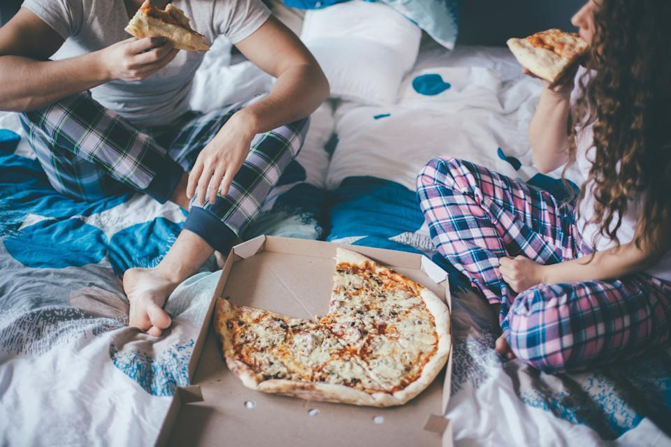 Eating takeaways in bed can attract pests. (Getty Images)