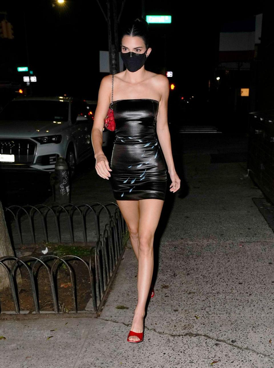 <p>You'd be forgiven for thinking Jenner was off to a fashion after party - it is New York Fashion Week after all.</p><p>But in fact, the model was heading to a birthday party for friend Fai Khadra at Lucali, where she brought along her date (current boyfriend) Devin Booker.</p>