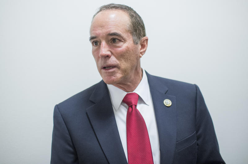 Rep. Chris Collins (R-N.Y.) is a Republican in one of the three Democratic states that would be most adversely affected by a complete repeal of the state and local tax deduction. (Tom Williams via Getty Images)