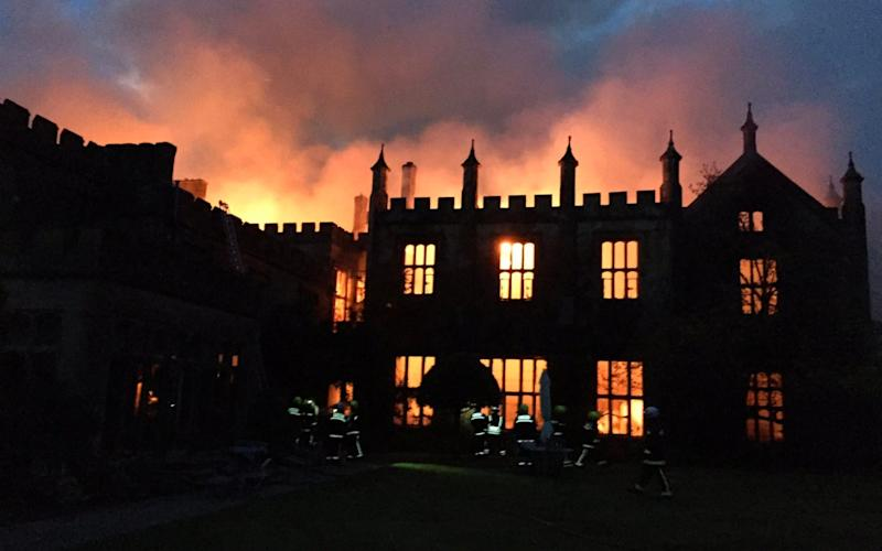Michael Treichl, 68, was questioned this week on suspicion of arson by detectives from Dorset Police and has since been released pending further investigations - Twitter