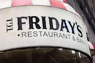 """<p>Well, T.G. for this news! Most T.G.I. Friday's will be open on Turkey Day—but check ahead to make sure.</p><p><strong><a href=""""https://locations.tgifridays.com/"""" rel=""""nofollow noopener"""" target=""""_blank"""" data-ylk=""""slk:Find a location"""" class=""""link rapid-noclick-resp"""">Find a location</a>.</strong></p>"""