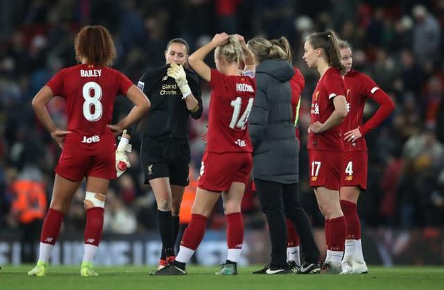A mistake from Liverpool Women's goalkeeper Anke Preuss cost her side as Everton won the derby at Anfield 1-0 (Nick Potts/PA)