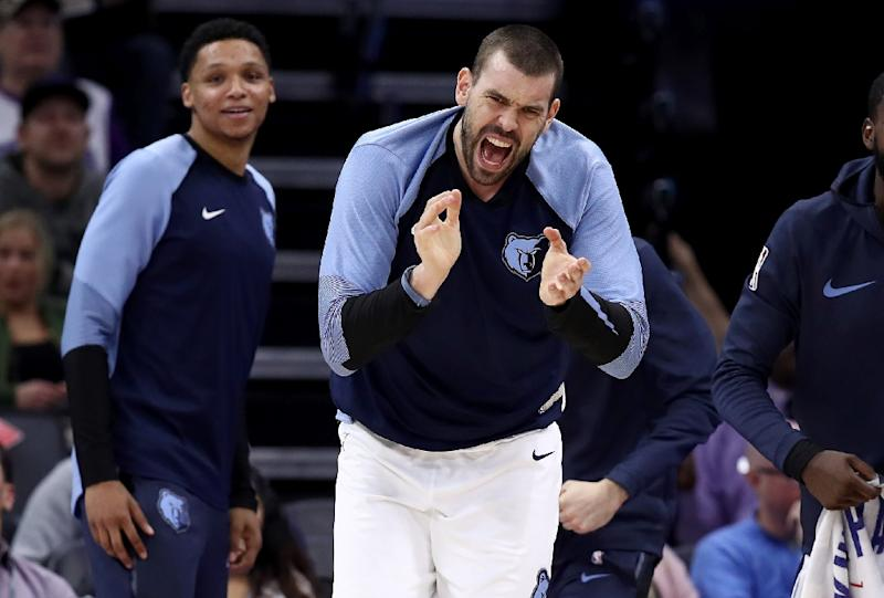 Gasol's No.33 jersey retired by the Memphis Grizzlies