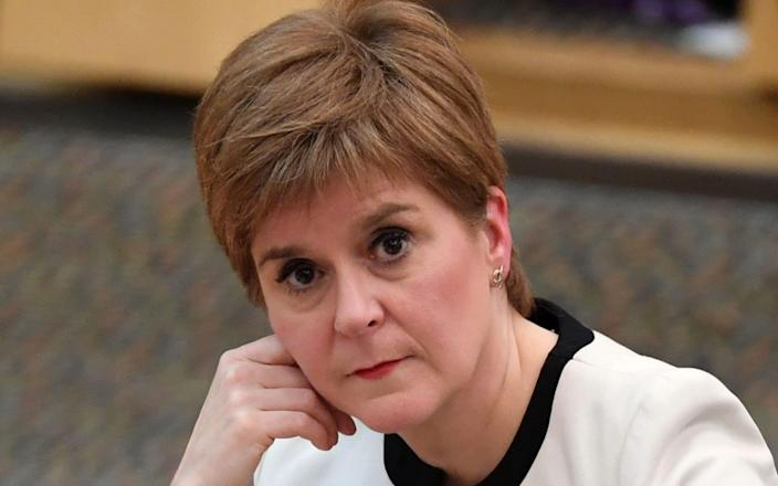 Nicola Sturgeon will review her lockdown restrictions on Thursday - AFP