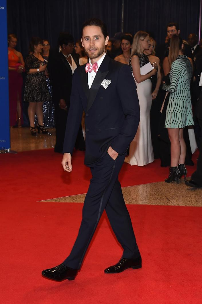 <p>Actor Jared Leto attends the 102nd White House Correspondents' Dinner, April 30. <i>(Photo by Larry Busacca/Getty Images)</i></p>