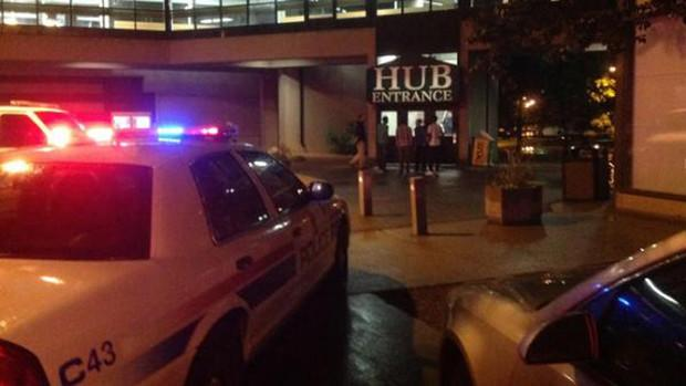 Police were on the scene early Friday following a shooting inside HUB Mall at the University of Alberta in Edmonton.