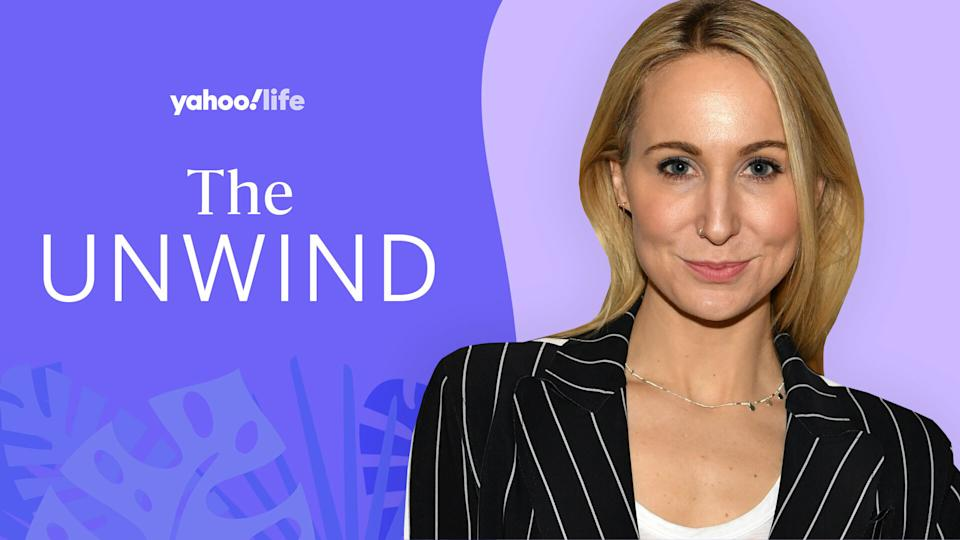 Nikki Glaser gets candid about her experience with an eating disorder. (Photo Getty; designed by Quinn Lemmers)