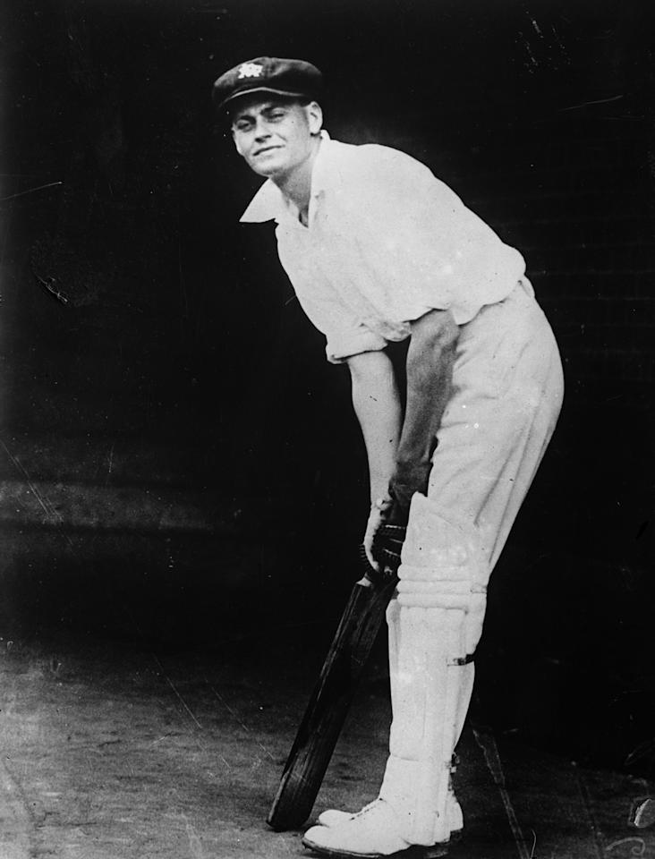 27th January 1930:  Bill Woodfull (1897 - 1965) played for Australia (1926 - 1934) cricket team.  (Photo by Fox Photos/Getty Images)