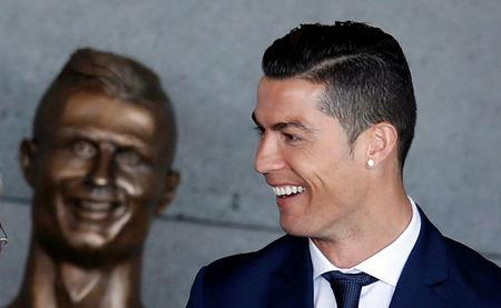 Cristiano Ronaldo attends the ceremony to rename Funchal airport as Cristiano Ronaldo Airport in Funchal