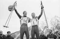 """<p>French skier <a href=""""https://www.thejournal.ie/winter-olympics-scandals-history-1299584-Feb2014/"""" rel=""""nofollow noopener"""" target=""""_blank"""" data-ylk=""""slk:Jean-Claude Killy won triple gold in alpine skiing after a deeply controversial outcome"""" class=""""link rapid-noclick-resp"""">Jean-Claude Killy won triple gold in alpine skiing after a deeply controversial outcome</a> in the slalom race. Fellow competitor and Austrian skier Karl Shranz claimed a mysterious man crossed his path during the race and caused him to skid to a halt. He was allowed a restart, beat Killy's time, but was later disqualified to make Killy the ultimate champion after all. </p>"""