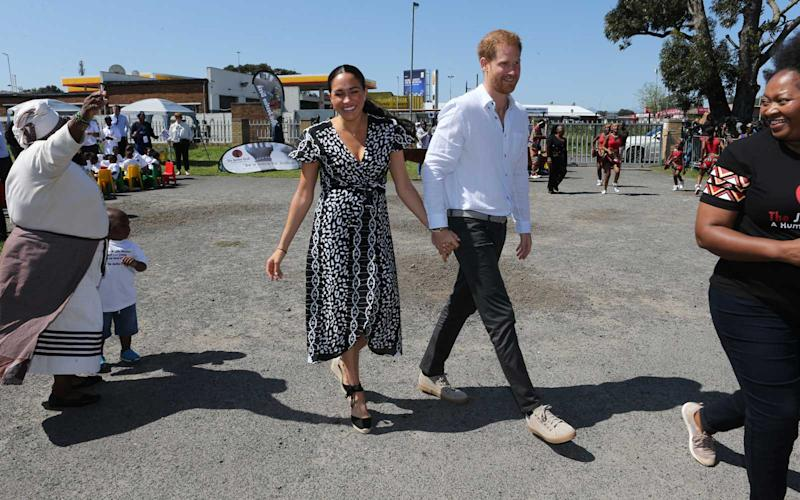 Meghan, Duchess of Sussex and Prince Harry, Duke of Sussex visit The Justice Desk on September 30, 2019 in Cape Town, South Africa. | WPA Pool/Getty Images