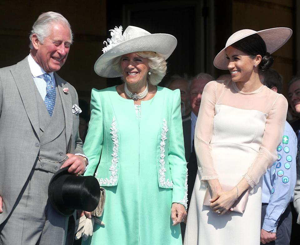 The pregnant royal also previously wore the bracelet at Prince Charles' 70th birthday celebrations at Buckingham Palace in May. Photo: Getty Images