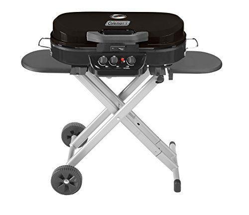 """<p><strong>Coleman</strong></p><p>amazon.com</p><p><strong>$249.99</strong></p><p><a href=""""https://www.amazon.com/dp/B07BLH19MX?tag=syn-yahoo-20&ascsubtag=%5Bartid%7C1782.g.36148334%5Bsrc%7Cyahoo-us"""" rel=""""nofollow noopener"""" target=""""_blank"""" data-ylk=""""slk:BUY NOW"""" class=""""link rapid-noclick-resp"""">BUY NOW</a></p><p>If you already have your big grill sitting on your patio, this portable gas grill is great for camping, tailgating, and picnics without lugging around all the extra weight when you pack. When you're ready to transport it, the legs collapse and the wheels turn it into one easy-to-pull package. </p>"""