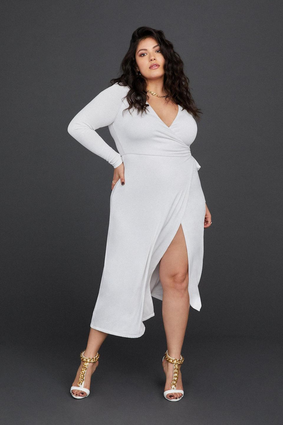 <p>The name of the <span>Good American Daynight Dress</span> ($99) says it all. You can easily take it from day to night, whether you go from the office to happy hour.</p>