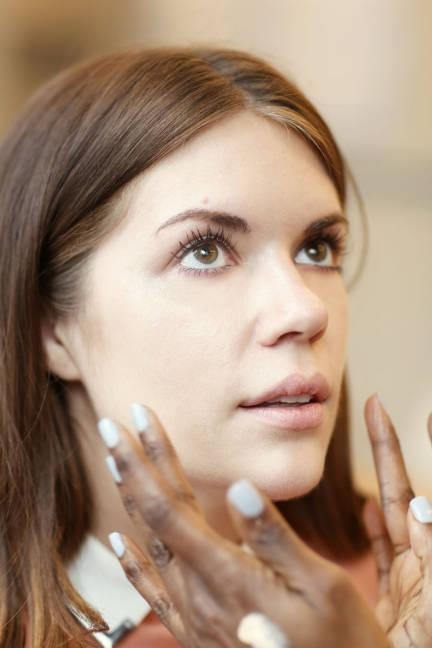 """<div class=""""caption-credit""""> Photo by: Elizabeth Griffin</div><div class=""""caption-title"""">Foundation</div>""""At NARS, foundation application starts with your hands. Your fingers blend so much better than a sponge or a brush, and it's quicker,"""" says Uzo. Here, she applied a light foundation for a """"sheer veil all over the face."""" <br> <br> <b>More:</b> <br> <b><a rel=""""nofollow"""" href=""""http://www.elle.com/beauty/makeup-skin-care/best-face-wash#slide-1?link=emb&dom=yah_life&src=syn&con=blog_elle&mag=elm"""" target=""""_blank"""">Best 14 Face Washes Right Now</a></b> <br> <b><a rel=""""nofollow"""" href=""""http://www.elle.com/beauty/makeup-skin-care/naeem-khan-fall-2013-hair-and-makeup?link=emb&dom=yah_life&src=syn&con=blog_elle&mag=elm"""">Naeem Khan's '20s Inspired Hair and Makeup</a></b>"""
