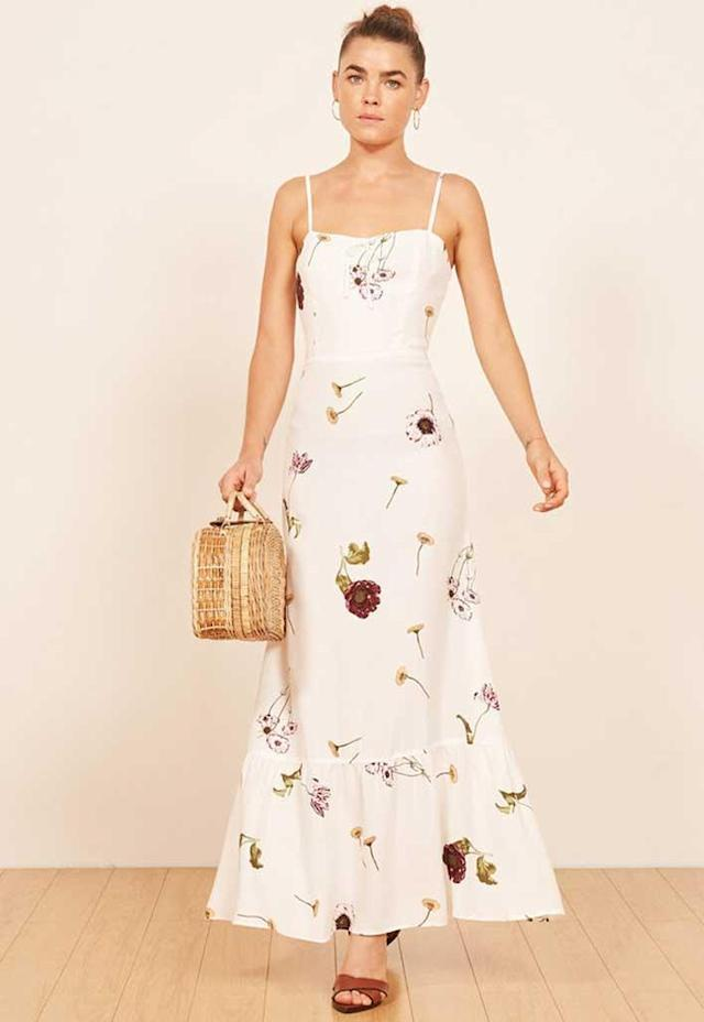 Floral printed maxi dress. (Photo: Reformation)