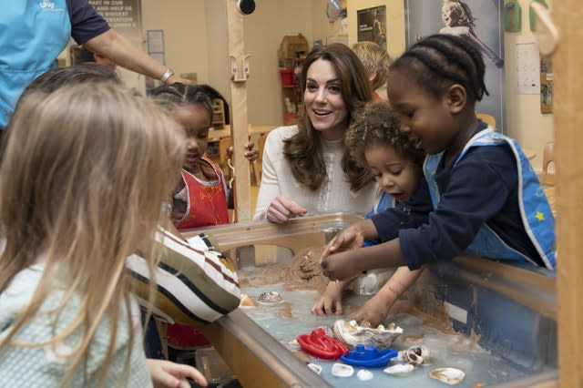 Kate, pictured during a visit to a London nursery and pre-school, has focused much of her public work to supporting the early years development of children. Phil Harris/Daily Mirror