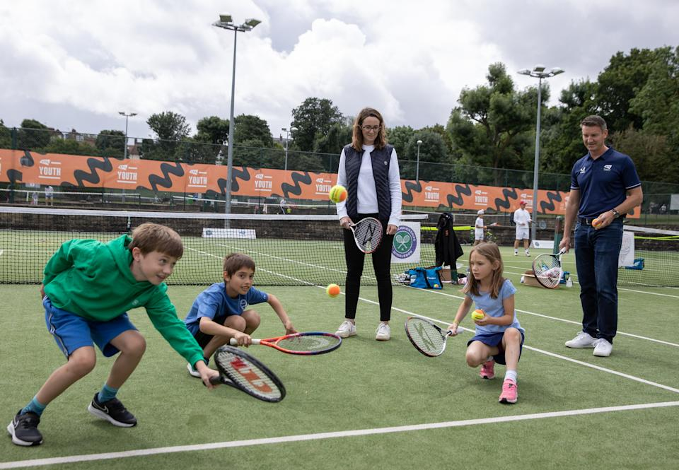 Tennis-loving youngsters flocked to Wimbledon Park for the special one-day event