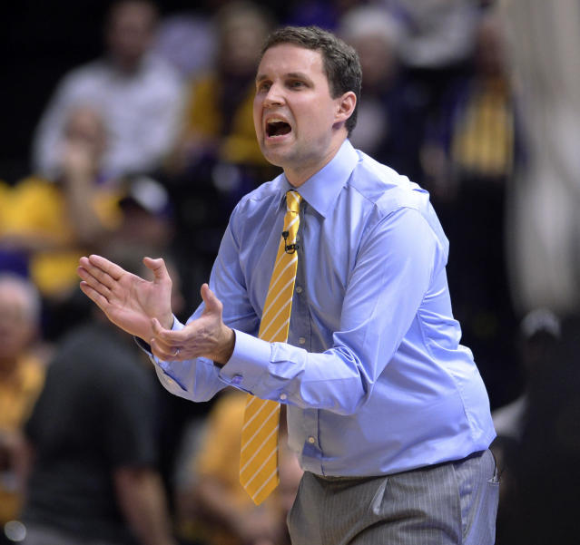 Will Wade is in his first season as head coach of LSU, where he entered this week 16-12. (AP)
