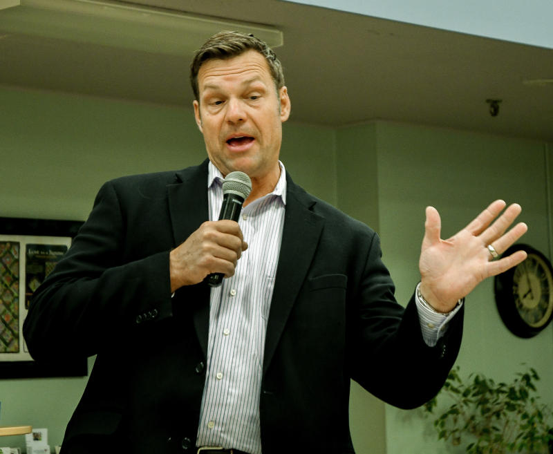 Kansas Secretary of State Kris Kobach had indicated the Department of Homeland Security would take over the work of the voter fraud commission. (Mark Reinstein via Getty Images)