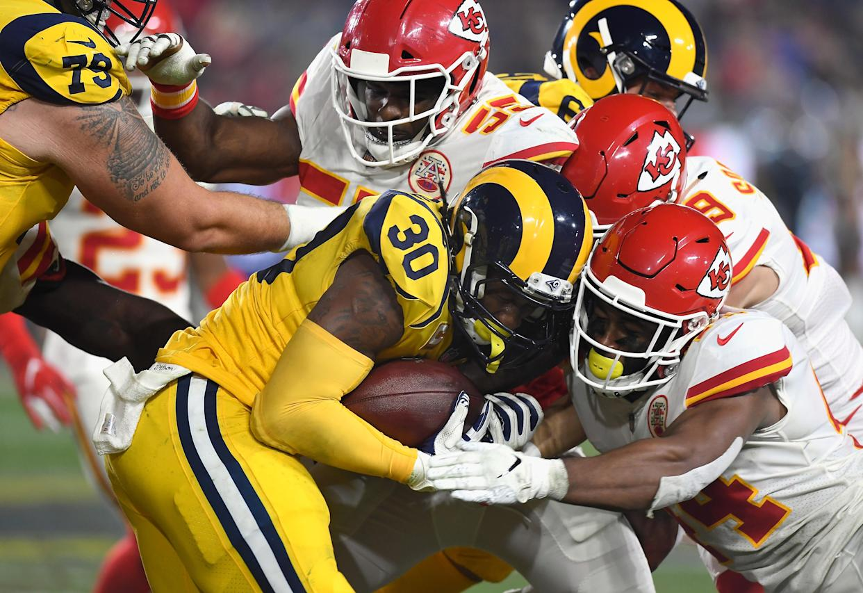 The Chiefs defense wasn't ready for many parts of the Rams offense, but it seemed ready for Todd Gurley. (Getty Images)
